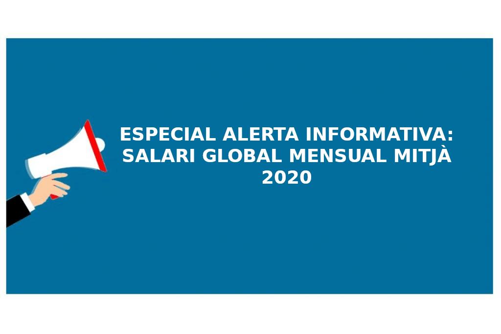 salari global mensual mitja 2020